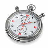 Stopwatch. 3d. Analog stopwatch on white background. 3d royalty free illustration