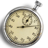 Stopwatch. An old stopwatch on white - with clipping path Stock Images