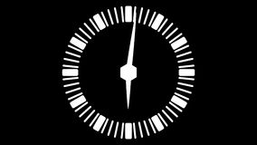Stopwatch animated icon. Clock face with moving arrows. Time run. Cartoon flat animation of UI element available in 4K FullHD and HD video 2D render footage on vector illustration
