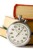 Stopwatch and books Royalty Free Stock Photo