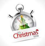 Stopwatch - Christmas time Stock Photo