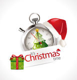 Stopwatch - Christmas time Stock Images