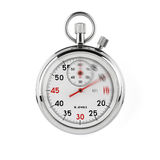 Stopwatch with clipping path Stock Images