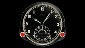 Stopwatch clock face. stock footage