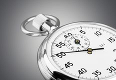Stopwatch. Clock Measuring White Background Part Of Black timescale Stock Images