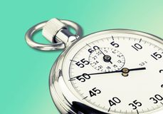 Stopwatch. Clock Measuring White Background Part Of Black timescale Stock Photography