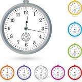 Stopwatch, clock and stopwatch logo Royalty Free Stock Photo