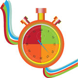 Stopwatch colored. Stock Photography