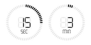 Stopwatch countdown digital timer display vector illustration