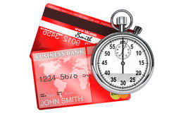 StopWatch with Credit Card Stock Image