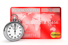 StopWatch with Credit Card Stock Photography