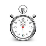 Stopwatch. 3d cute people - classic metal stopwatch white background royalty free illustration