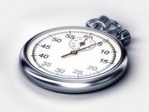 Stopwatch 3D illustration. Stopwatch 3d illustation isolated on white Royalty Free Stock Image