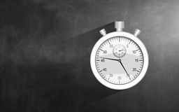 Stopwatch. Detailed realistic stopwatch, isolated on chalkboard background Royalty Free Stock Photography
