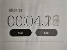 Digital stopwatch Royalty Free Stock Images