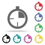 stopwatch Elemento di multi icona colorata di sport per i apps mobili di web e di concetto Icona per progettazione del sito Web e royalty illustrazione gratis
