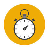 Stopwatch flat icon Royalty Free Stock Photography