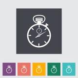 Stopwatch flat icon. Stock Photography