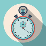 Stopwatch flat vector illustration Stock Images