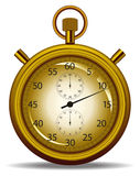 Stopwatch gold Royalty Free Stock Photo