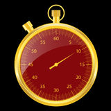 Stopwatch gold and red Royalty Free Stock Photo