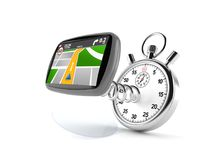 Stopwatch with GPS navigation Stock Photography