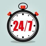 Stopwatch on grey background. Illustration of stopwatch on grey background Royalty Free Stock Images