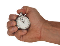 Stopwatch with hand Stock Images