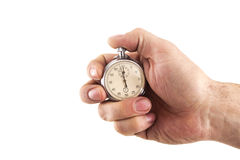Stopwatch in hand Stock Images