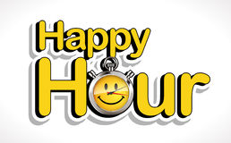 Stopwatch - Happy hour. Party time concept royalty free illustration