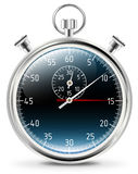 Stopwatch icon. With blue background royalty free illustration