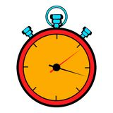 Stopwatch icon cartoon. Stopwatch icon in cartoon style isolated vector illustration royalty free illustration