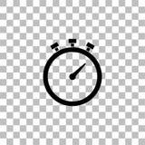 Stopwatch icon flat royalty free illustration