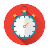Stopwatch icon. Ftat vector illustration vector illustration