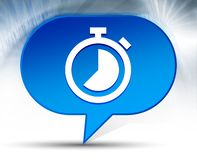 Stopwatch icon blue bubble background. Stopwatch icon isolated on blue bubble background vector illustration