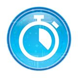Stopwatch icon floral blue round button. Stopwatch icon isolated on floral blue round button vector illustration