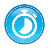 Stopwatch icon floral blue round button. Stopwatch icon isolated on floral blue round button stock illustration
