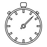Stopwatch icon, outline style. Stopwatch icon. Outline illustration of stopwatch vector icon for web Stock Photography