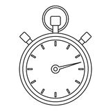 Stopwatch icon, outline style. Stopwatch icon. Outline illustration of stopwatch vector icon for web Royalty Free Stock Images