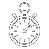 Stopwatch icon, outline style. Stopwatch icon. Outline illustration of stopwatch vector icon for web Stock Photos