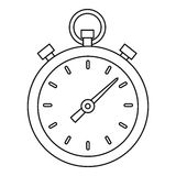 Stopwatch icon, outline style. Stopwatch icon. Outline illustration of stopwatch vector icon for web Stock Photo