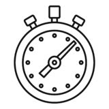 Stopwatch icon, outline style. Stopwatch icon. Outline stopwatch vector icon for web design isolated on white background vector illustration