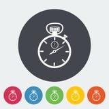 Stopwatch icon. Stopwatch. Single flat icon on the circle. Vector illustration vector illustration