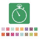 The stopwatch icon. Stopwatch symbol. Flat. Vector. The stopwatch icon. Stopwatch symbol. Flat Vector illustration Button. Set Stock Photos