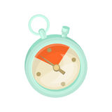 Stopwatch icon with time limit frame. Cardboard vector illustration.  Royalty Free Stock Photography
