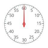 stopwatch Icona del cronometro Icona del cronometro piana Illustrazione piana di vettore 3d royalty illustrazione gratis