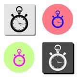stopwatch Icona piana di vettore illustrazione vettoriale