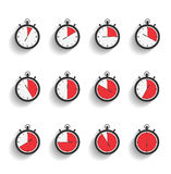 Stopwatch Icons Stock Photos