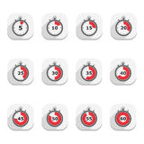 Stopwatch Icons Royalty Free Stock Photo