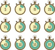 Stopwatch icons. Stopwatch vector illustration icons set vector illustration